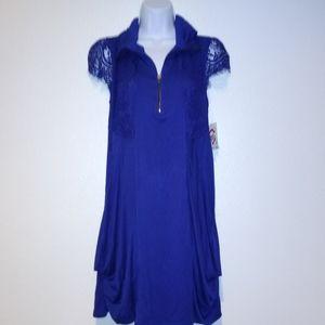 Blue Kensie Zip Dress With Pockets